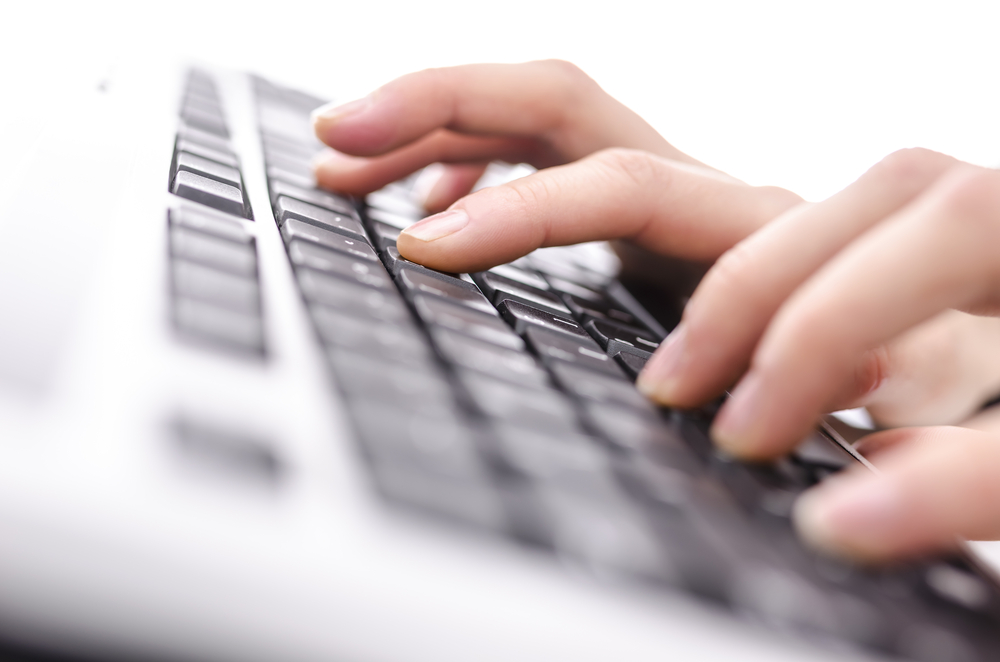 typing-on-keyboard-widescreen-
